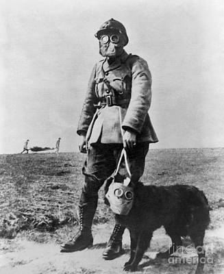 Photograph - Gas Masks In Wwi 1914-18 by Library of Congress