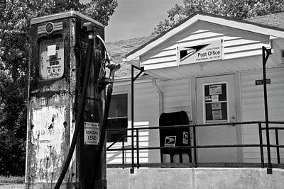 Old Post Office Photograph - Gas Pump Post Office by Betsy Knapp