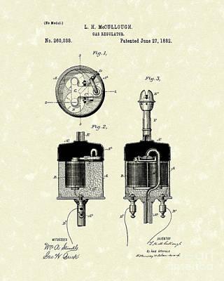 Flow Drawing - Gas Regulator 1882 Patent Art by Prior Art Design