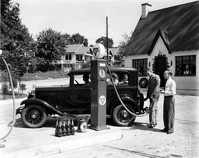 Gas Station Art Print by Photo Researchers