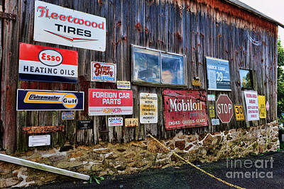 Old Texaco Gas Station Photograph - Gas Station Signs by Paul Ward