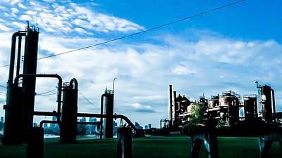 Photograph - Gas Works  by Chris  Leon