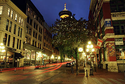 Photograph - Gastown Vancouver Steam Clock by Pierre Leclerc Photography
