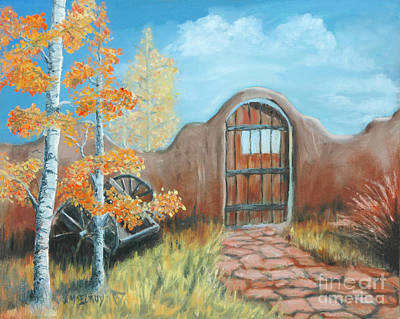 Aspen Painting - Gate By The San Juan by Jerry McElroy