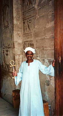 Photograph - Gate Keeper At Abu Simbel In Egypt by Susan Alvaro