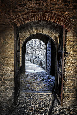 Entrance Door Photograph - Gate Of A Castle by Joana Kruse