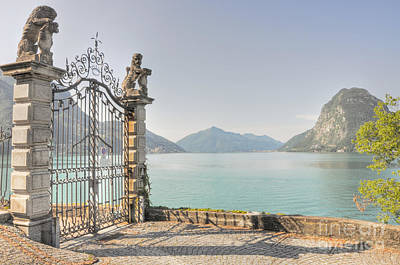Gate On The Lake Front Art Print by Mats Silvan
