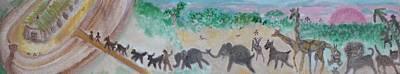 Gathering Earth Specimens At Twilight Original by Jay Manne-Crusoe