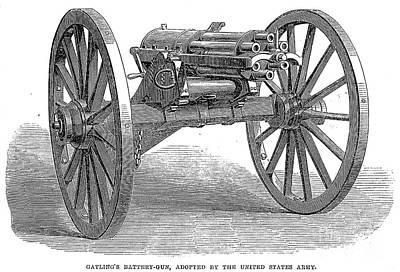 Gatling Gun, 1867 Art Print by Granger