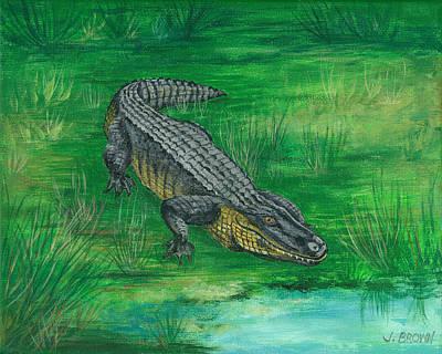 Gator Art Print by John Brown