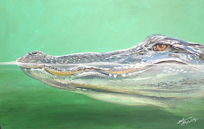 Florida Gators Painting - Gator by Shannon Wiley