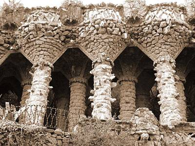 Photograph - Gaudi Columns by Donna Corless