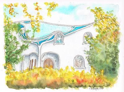 Gaudi In Beverly Hills - California Art Print by Carlos G Groppa
