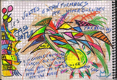 Gaudi Drawing - Gaudi Rambla Drawing by Mircea Caraman