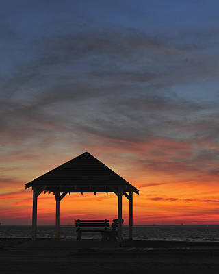 Photograph - Gazebo At Sunset Seaside Park, Nj by Terry DeLuco