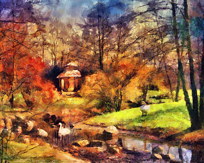 Gazebo In The Park Art Print by Jai Johnson