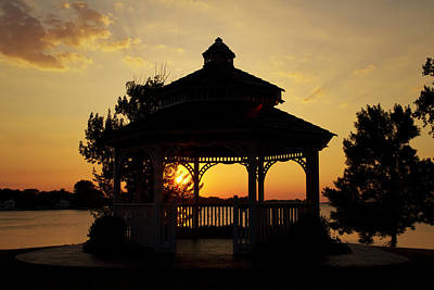 Photograph - Gazebo Sunset by Joel Witmeyer