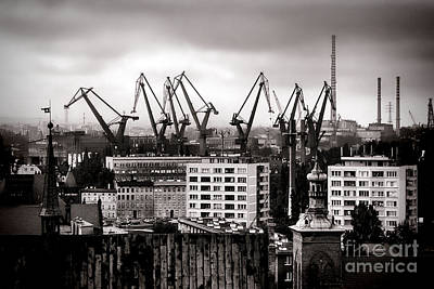 Shipyard Photograph - Gdansk Shipyard by Olivier Le Queinec