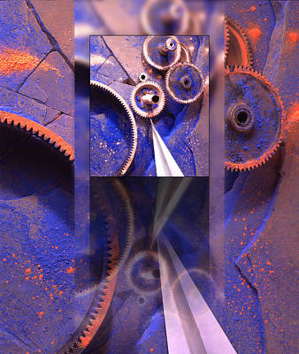 Gear Composition Art Print by Ron Schwager