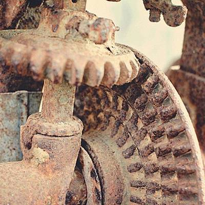 Gears Wall Art - Photograph - Gears For @stollerancher by Victoria Haas