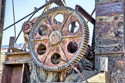 Photograph - Gears by Peter Dyke