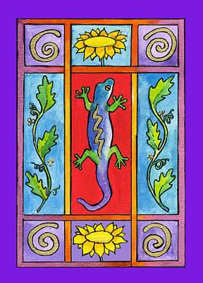 Corwin Painting - Gecko by Pamela  Corwin