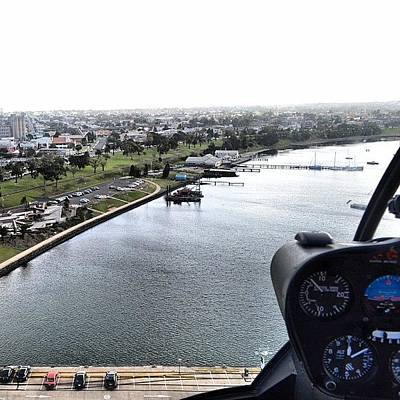 Helicopter Photograph - Geelong Water Front by Robert Puttman