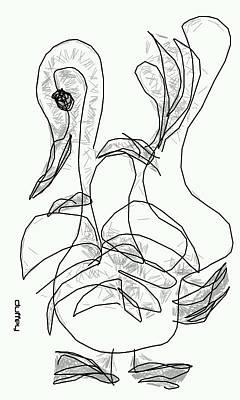 Photograph - Geese-ganz by Doug Duffey