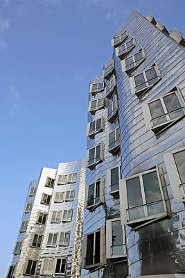 Material Glass Photograph - Gehry II Building, Dusseldorf, Germany by Carlos Dominguez