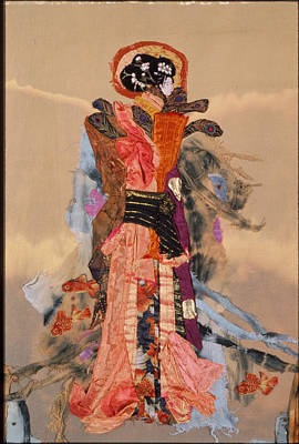 Tapestry - Textile - Geisha by Roberta Baker