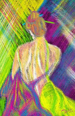 Geisha Sumber Digital Painting - Geisha Sumber by Kenal Louis