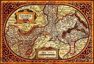 Geldria Ducatus Map Art Print by Pg Reproductions