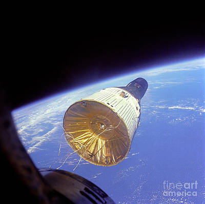Photograph - Gemini 6 Views Gemini 7 by Nasa