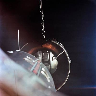 Gemini 8 Spacecraft Approaching Print by Everett