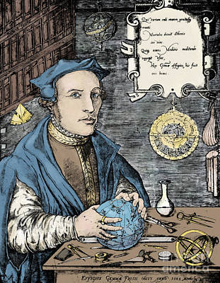 Gemma Frisius, Dutch Polymath Art Print by Science Source