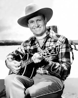 Autry Photograph - Gene Autry, Ca. Late-1940s by Everett