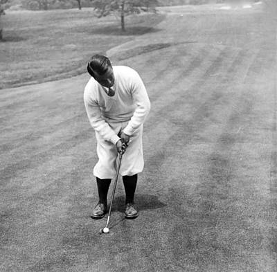 Art Print featuring the photograph Gene Sarazen Playing Golf by International  Images