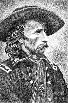 General Custer Art Print by Gordon Punt