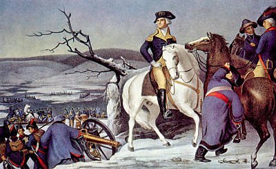 Battle Of Trenton Photograph - General George Washington Crossing by Everett