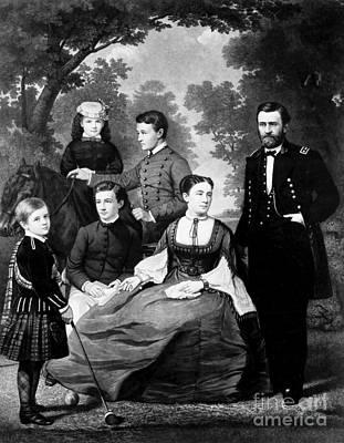 General Grant And Family Art Print
