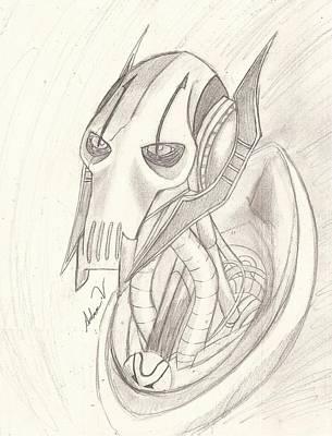 General Grievous Drawing - General Grievous by Amber Vitek