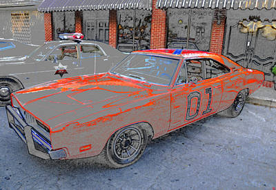 1969 Dodge Charger Painting - General Lee One by David Lee Thompson