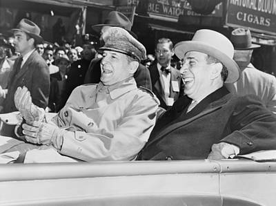 Ambition Photograph - General Macarthur Is Cheered By New by Everett
