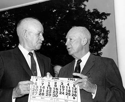 General Dwight D Eisenhower Photograph - General Omar N. Bradley  With, General by Everett