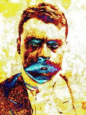 General Zapata Art Print by J- J- Espinoza