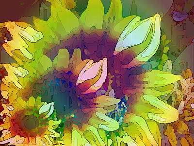 Digital Sunflower Digital Art - Generations by Tim Allen