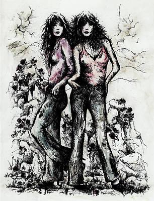 Genes And Roses Art Print by Rachel Christine Nowicki