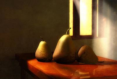 Pear Mixed Media - Genetic Modification by Georgiana Romanovna