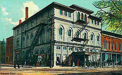 Painting - Gennett Theatre In Richmond In 1910 by Dwight Goss