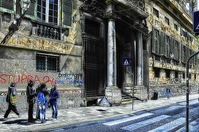 Photograph - Genoa Balbi Road - Via Balbi by Enrico Pelos